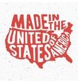 Vintage USA stamp vector image vector image