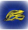 Yellow Bike Helmet vector image