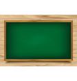 School green Board on wooden background vector image