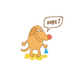 cartoon dog with thought bubble vector image