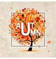 autumn tree banner on grunge paper for your vector image