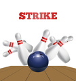 Scattered skittle and bowling ball vector image