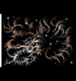 abstract decor with stars vector image