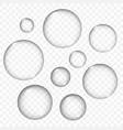 air bubbles texture set isolated vector image vector image