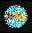 bahamas flag sparkling badge vector image