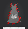 black friday clothing fashion sale vector image