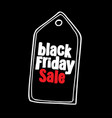 black friday sale design template advertising vector image vector image