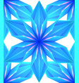 blue seamless ice texture of snowflakes on white vector image vector image