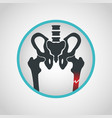 bone fracture logo icon design vector image vector image