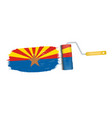 brush stroke with arizona national flag isolated vector image vector image