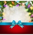 Christmas background with fir twigs EPS 10 vector image vector image