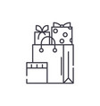 christmas presents line icon concept christmas vector image