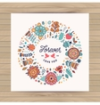 circle frame wreath made flowers vector image vector image