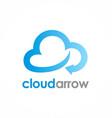 cloud arrow logo vector image vector image
