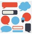 collection retro speech bubbles and dialog vector image
