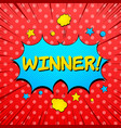 colorful comic big win concept vector image vector image