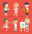 Creative kids vector image