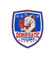 Democrat Donkey Mascot Boxer Shield vector image vector image