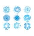 design elements spiral motion twisted swirl set vector image vector image