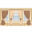 Design of windows in urban apartment vector image vector image