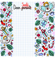doodle christmas wish list with copyspace vector image