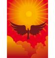 eagle in sun vector image