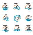 emblems set summer vacation vector image vector image