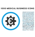 Euro Machinery Icon with 1000 Medical Business vector image vector image