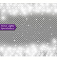 falling snow effect isolated on transparent vector image vector image
