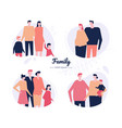 family - flat design style characters set vector image vector image