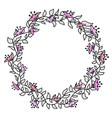 flower hand-drawn gentle frame vector image vector image