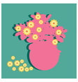 Flower on green background vector image vector image
