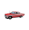 ford galaxie car vector image vector image