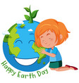girl with earth day symbol vector image