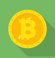 gold bitcoin coin icon vector image vector image