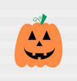 halloween pumpkin smile vector image vector image