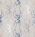 Hand drawn Sketch Beetles Seamless Pattern vector image vector image
