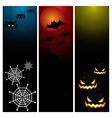 happy halloween banner set design vector image vector image