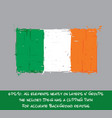 irish flag flat - artistic brush strokes vector image vector image