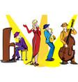 jazz ensemble vector image