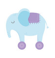 kids toy elephant with wheels icon design white vector image
