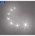 light glow effect stars bursts with sparkles vector image vector image