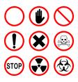 Limiting and warning signs vector image vector image
