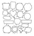 lineart dialog bubbles vector image