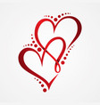 love icon symbol on white background vector image vector image