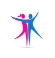 man and woman dancing icon vector image