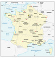 map france with latitude and longitude vector image vector image