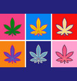 marijuana green leaf art pop art style abstract vector image vector image