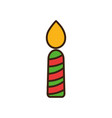 merry christmas celebration decorative candle vector image vector image