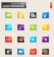 music bookmark icons vector image vector image